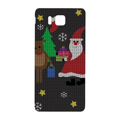 Ugly Christmas Sweater Samsung Galaxy Alpha Hardshell Back Case by Valentinaart