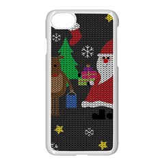 Ugly Christmas Sweater Apple Iphone 8 Seamless Case (white)