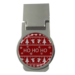 Ugly Christmas Sweater Money Clips (round)  by Valentinaart
