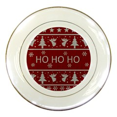 Ugly Christmas Sweater Porcelain Plates by Valentinaart