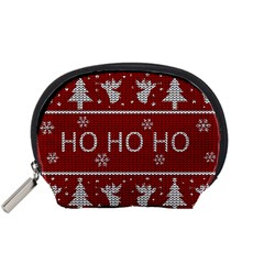 Ugly Christmas Sweater Accessory Pouches (small)  by Valentinaart