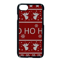 Ugly Christmas Sweater Apple Iphone 8 Seamless Case (black)