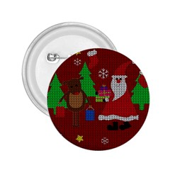 Ugly Christmas Sweater 2 25  Buttons by Valentinaart