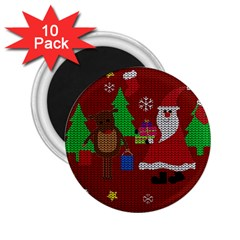 Ugly Christmas Sweater 2 25  Magnets (10 Pack)  by Valentinaart