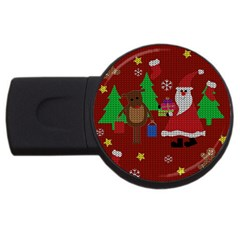 Ugly Christmas Sweater Usb Flash Drive Round (2 Gb) by Valentinaart
