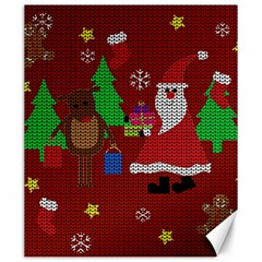 Ugly Christmas Sweater Canvas 20  X 24   by Valentinaart