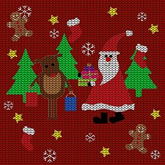 Ugly Christmas Sweater Magic Photo Cubes by Valentinaart