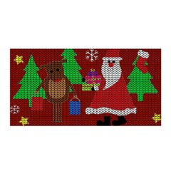 Ugly Christmas Sweater Satin Wrap by Valentinaart