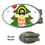 Jesus - Christmas Money Clips (Oval)  Front