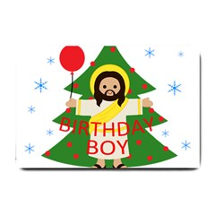 Jesus   Christmas Small Doormat  by Valentinaart