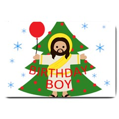Jesus   Christmas Large Doormat  by Valentinaart