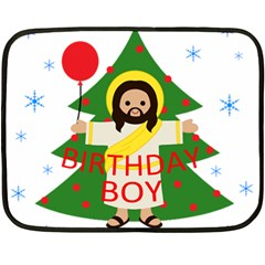 Jesus   Christmas Fleece Blanket (mini) by Valentinaart