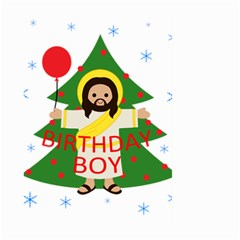 Jesus   Christmas Large Garden Flag (two Sides) by Valentinaart