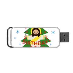 Jesus   Christmas Portable Usb Flash (two Sides) by Valentinaart