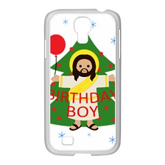 Jesus   Christmas Samsung Galaxy S4 I9500/ I9505 Case (white) by Valentinaart
