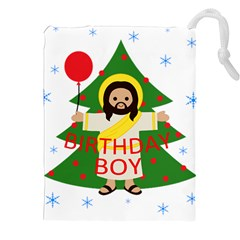 Jesus   Christmas Drawstring Pouches (xxl) by Valentinaart
