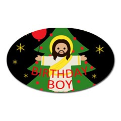 Jesus   Christmas Oval Magnet by Valentinaart