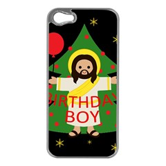 Jesus   Christmas Apple Iphone 5 Case (silver) by Valentinaart