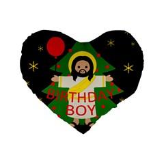 Jesus   Christmas Standard 16  Premium Heart Shape Cushions by Valentinaart
