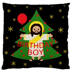Jesus   Christmas Large Flano Cushion Case (one Side) by Valentinaart