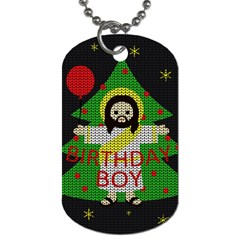 Jesus   Christmas Dog Tag (two Sides) by Valentinaart