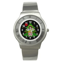 Jesus   Christmas Stainless Steel Watch by Valentinaart