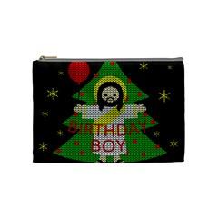 Jesus   Christmas Cosmetic Bag (medium)  by Valentinaart
