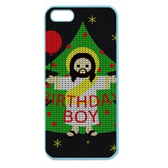 Jesus   Christmas Apple Seamless Iphone 5 Case (color) by Valentinaart