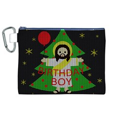 Jesus   Christmas Canvas Cosmetic Bag (xl) by Valentinaart
