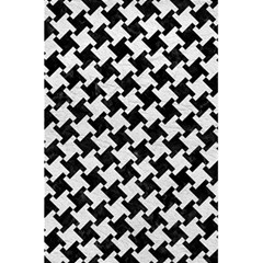 Houndstooth2 Black Marble & White Leather 5 5  X 8 5  Notebooks by trendistuff