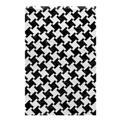 Houndstooth2 Black Marble & White Leather Shower Curtain 48  X 72  (small)  by trendistuff
