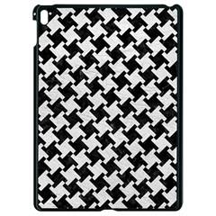 Houndstooth2 Black Marble & White Leather Apple Ipad Pro 9 7   Black Seamless Case by trendistuff