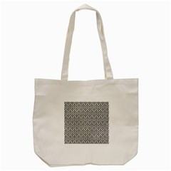 Hexagon1 Black Marble & White Leather Tote Bag (cream) by trendistuff
