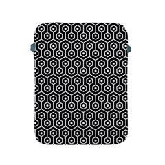 Hexagon1 Black Marble & White Leather (r) Apple Ipad 2/3/4 Protective Soft Cases by trendistuff
