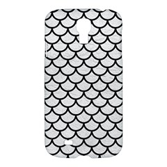 Scales1 Black Marble & White Leather Samsung Galaxy S4 I9500/i9505 Hardshell Case by trendistuff