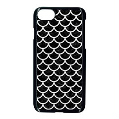 Scales1 Black Marble & White Leather (r) Apple Iphone 8 Seamless Case (black) by trendistuff