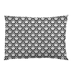 Scales2 Black Marble & White Leather Pillow Case by trendistuff