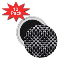 Scales2 Black Marble & White Leather (r) 1 75  Magnets (10 Pack)  by trendistuff