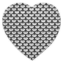 Scales3 Black Marble & White Leather Jigsaw Puzzle (heart) by trendistuff