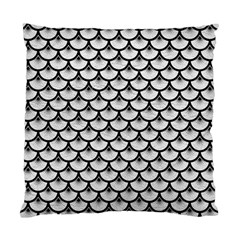 Scales3 Black Marble & White Leather Standard Cushion Case (two Sides) by trendistuff