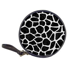 Skin1 Black Marble & White Leather Classic 20 Cd Wallets by trendistuff