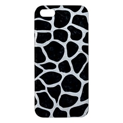 Skin1 Black Marble & White Leather Apple Iphone 5 Premium Hardshell Case