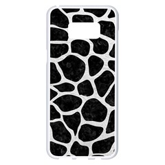 Skin1 Black Marble & White Leather Samsung Galaxy S8 Plus White Seamless Case by trendistuff