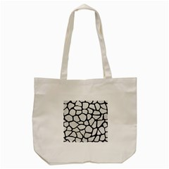 Skin1 Black Marble & White Leather (r) Tote Bag (cream) by trendistuff