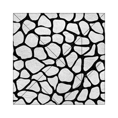 Skin1 Black Marble & White Leather (r) Acrylic Tangram Puzzle (6  X 6 ) by trendistuff