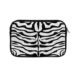 Skin2 Black Marble & White Leather Apple Macbook Pro 13  Zipper Case by trendistuff