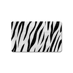 Skin3 Black Marble & White Leather Magnet (name Card) by trendistuff