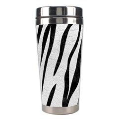 Skin3 Black Marble & White Leather Stainless Steel Travel Tumblers by trendistuff