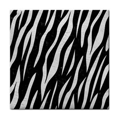 Skin3 Black Marble & White Leather (r) Face Towel by trendistuff