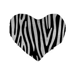 Skin4 Black Marble & White Leather Standard 16  Premium Heart Shape Cushions by trendistuff